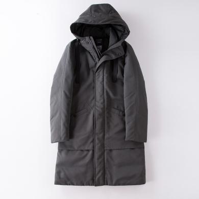男士款羽绒服中长款韩版潮流白鸭绒新款冬季加厚青年修身帅气外套   DEU2874