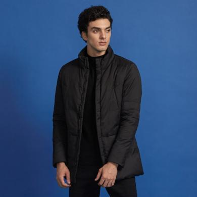 G&G冬季男士羽絨服中長款立領輕薄韓版潮流修身男款2018新款加厚外套