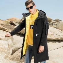 传奇保罗连帽羽绒服男 2018冬季新款男士中长款时尚个性帅气外套Y18D025