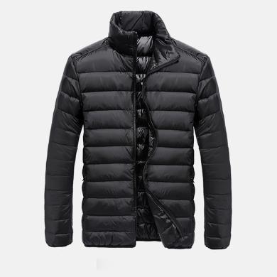 戰地吉普 男士羽絨服冬季新款男裝休閑戶外運動保暖立領羽絨外套男