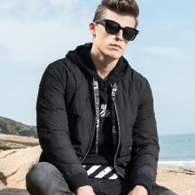传奇保罗羽绒服男潮2018冬季新款短款加厚保暖白鸭绒冬装外套Y18D028