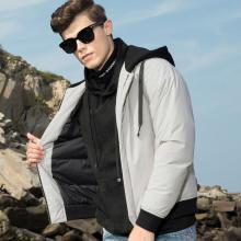 传奇保罗短款连帽羽绒服男 2018冬季新款白鸭绒时尚潮流男装外套Y18D026