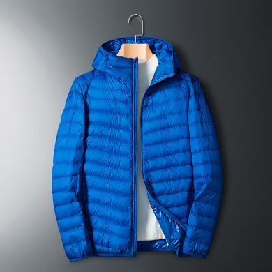 富貴鳥男裝秋冬新品羽絨服連帽羽絨服男外套多色可選保暖羽絨服FA8707