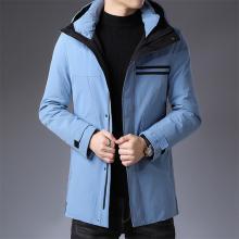 花花公子贵宾 冬季新款时?#34892;?#38386;羽绒棉服男加厚中长款羽绒服外套户外保暖潮