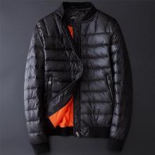 战地吉圃  新款秋冬季羽绒服男短款轻薄修身青年棒球领夹克保暖外套