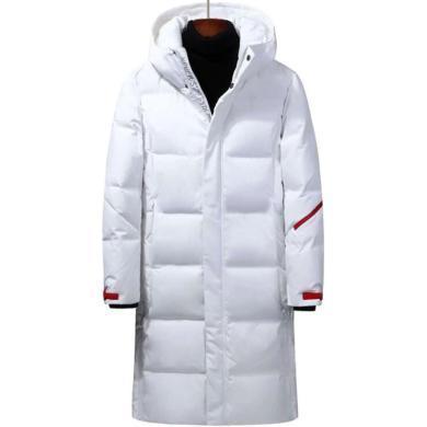 戰地吉圃 冬季休閑中長款羽絨服潮男士青年白鴨絨外套大衣