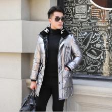 花花公子贵宾 新款羽绒服中年男士冬装中长款时?#34892;?#38386;连帽加厚保暖外套