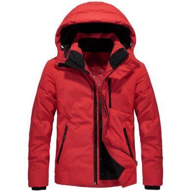 戰地吉圃 冬季新款羽絨服連帽保暖羽絨衣戶外休閑羽絨服男裝上衣外套