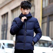 卓狼冬季韩版青年立领加厚棉衣男面包服 潮流休闲保暖棉服外套M820QZQ