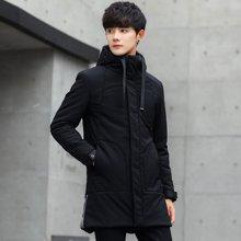 卓狼男士外套冬季新款棉衣男 韩版加厚中长款修身棉袄潮流棉服男M1829HX