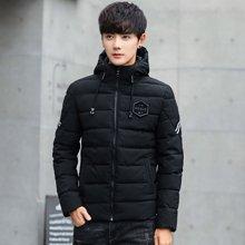 卓狼男士外套冬季潮流新款男装青年棉衣韩版修身短款棉服加厚棉袄M1825HX
