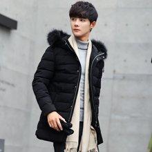 卓狼冬季外套男棉衣冬装加厚中长款男士棉服韩版修身学生潮流棉袄男装M1822HX