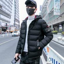 花花公子贵宾 冬季新款男士棉衣外套加厚保暖休闲百搭连帽棉服男