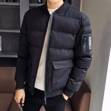 战地吉普 冬季新款男装时尚休闲棉衣外套潮流修身帅气百搭男士棉服男