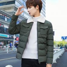 花花公子贵宾 秋冬装新款韩版男士外套潮流青少年加厚棉服男款保暖棉衣