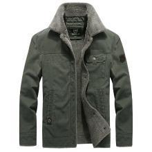 戰地吉普 冬季新款棉衣男加絨加厚翻領保暖外套青年寬松大碼棉服