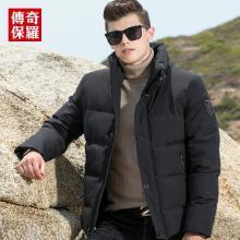 传奇保罗棉衣男2018新款冬装棉服潮短款加厚保暖棉袄男士冬季外套M18D005