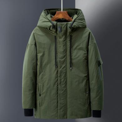 富貴鳥男裝新款棉衣男冬季新款韓式青年男士加厚羽絨棉服短款棉襖外套潮WDQ883