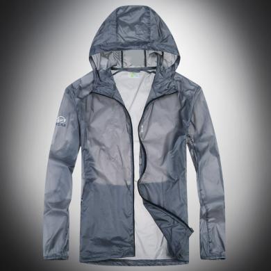 战地吉普 夏季新款男士户外防晒衣防紫外线透气薄款运动风衣外套皮肤衣男