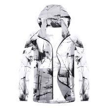 戰地吉普 夏季新款時尚連帽迷彩皮膚衣薄款透氣速干防水風衣男士防曬外套
