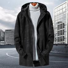 戰地吉圃 男裝迷彩夾克秋季新款中長款風衣大碼修身外套