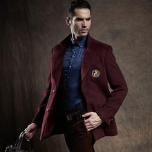 战地吉普 冬季新款毛呢子西装保暖毛呢大衣休闲男士外套