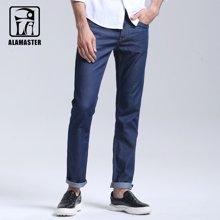 ALAMASTER 牛仔裤男纯色弹力牛仔男裤休闲直筒男装牛仔裤6178108