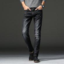 姝奕2017四季弹力牛仔裤男直筒修身中腰时尚牛仔裤男16XZZ HZ2107