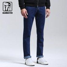 A LA MASTER 全棉男装直筒修身休闲牛仔裤青年男裤纯棉商务男士长裤147052