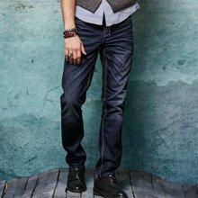 A LA MASTER 秋冬新款宽松直筒直脚冬季厚款牛仔裤男直筒修身145029