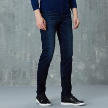 才子男装 牛仔裤秋季新品休闲男士牛仔裤青年时尚潮流长裤修身直筒牛仔裤男5586E3520