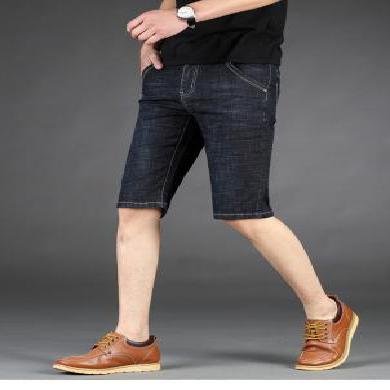 姝奕男款夏季新款牛仔短褲微彈力棉牛仔褲男七分褲修身時尚CLPL1051