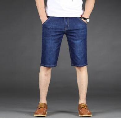 姝奕男款夏季新款牛仔短褲微彈力棉牛仔褲男七分褲修身時尚CLPL1056