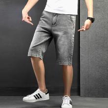 战地吉普 男装牛仔裤夏季新款青年时?#34892;?#38386;百搭宽松五分牛仔短裤男