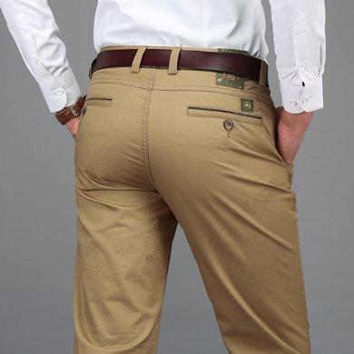 戰地吉圃 春夏裝新款寬松直筒薄款休閑褲商務彈力大碼男長褲子
