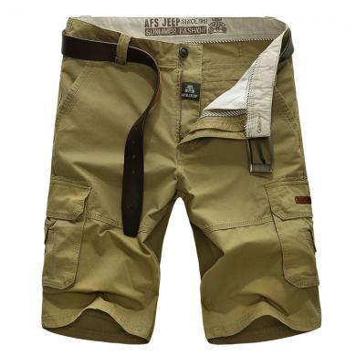 戰地吉普 夏季新款寬松休閑五分褲短褲大碼男裝沙灘褲休閑褲