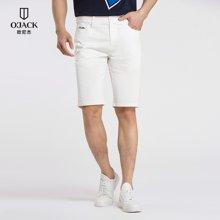 欧尼杰2018夏装新款休闲裤短裤男五分裤修身潮流舒适纯色男裤 XAB2001