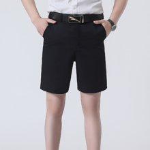 百依恋歌 夏季薄款休闲短裤男中年宽松纯色多口袋五分裤 K998
