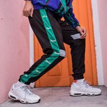 DupuSen度普森新款男裤嘻哈街舞潮男束脚裤休闲长裤哈伦小脚裤拼色滑板运动裤韩TRY-3002