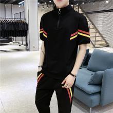 度普森短袖套裝男短袖套裝19年新款男士潮流兩件套運動服衣服情侶裝跑步短袖套裝健身兩件套圓領短袖套裝RK-618