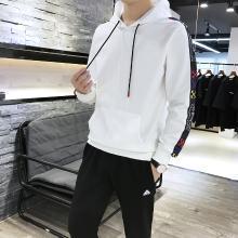 [爆款]度普森兩件套男兩件套19年新款長袖韓版男士兩件套跑步兩件套健身套裝連帽套裝運動套裝運動服兩件套情侶裝YK-9061