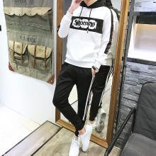 [新品]度普森運動套裝男跑步健身2019新款運動套裝男士套裝情侶裝長袖套裝運動套裝運動服運動套裝跑步健身套裝兩件套YK-9069