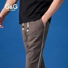 G&G 男式新款休闲运动裤男潮牌修身小脚九分裤夏季薄款青年裤子