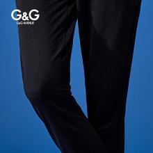G&G 男装夏季黑色九分束脚裤男修身潮流百搭休闲裤小脚薄款裤子
