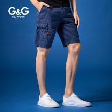G&G 男士2019夏季多口袋工裝短褲男韓版潮流五分褲學生百搭中褲