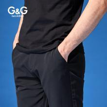 G&G 男式新款商务休闲裤男夏季弹力薄款小脚裤潮流百搭直筒长裤