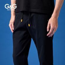 G&G 夏季男装新款黑色九分裤男修身小脚休闲运动裤潮流百搭男裤