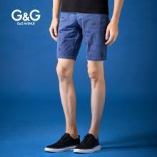 G&G男士2019夏季新款休閑五分褲男韓版潮流百搭中褲修身直筒短褲