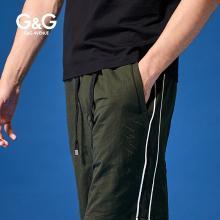 G&G夏天男士五分褲男潮韓版休閑運動短褲夏季修身薄款直筒沙灘褲