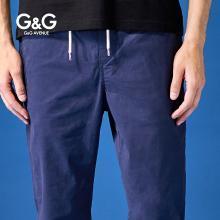 G&G 男士夏季休闲裤?#34892;?#36523;潮流百搭弹力裤子青年韩版运动小脚裤